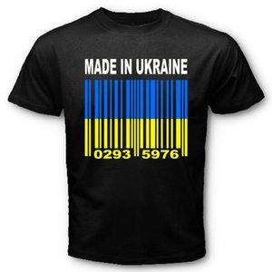 Made in Ucrânia Ukrainian National Flag CUSTOM CÓDIGO DE BARRAS T-shirt NÚMEROS Y25