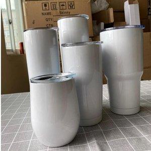 Persönlichkeit 20 oz Sublimation Gerade Skinny Cups 12Oz 20oz 30z Edelstahl Tumbler Vakuum isoliert Becher mit Deckel DIY Geschenkbecher