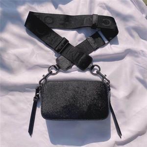 2020 새로운 인기 패션 여성의 카메라 가방 여성의 핸드백 넓은 어깨 끈 작은 사각형 간단한 휴대용 다목적 스타 어깨에 매는 가방