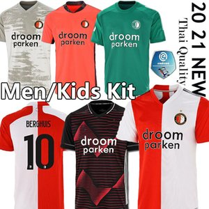 20 21 camiseta de fútbol Feyenoord KOKCU Berghuis FER Camiseta de futbol JORGENSEN camiseta de Fútbol 2020 camisa 2021 SENESI hombres hijos de fútbol