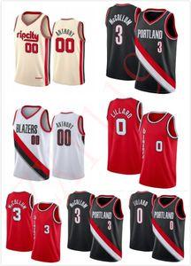 Männer Frauen Kinder Jugend Clyde 22 Drexler Carmelo 00 Anthony Nähte Basketball Jersey Mens Damian 0 Lilard CJ 3 McCollum Rip City Shirt