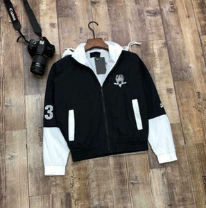 Fashion Mens Jacket with Letter Embroidery 2020 New Arrival Mens Autumn Jacket Coat Casual Spring Jackets with Hooded Wholesale