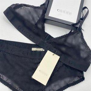 Frauen-reizvolle Spitze-Unterwäsche klassischer Buchstabe-Stickerei-Dame-Bikini-Geburtstags-Geschenk für Freundinnen Luxus BH-Sets