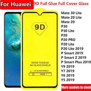 Für Huawei Mate30 Lite Mate20 Mate-20 30 P40 P30 P20 P30LITE PR0 P Smart z Plus Y5 Y6 Y7 Y9 2019 9D volle Deckung voller Klebstoff aus gehärtetem Glas