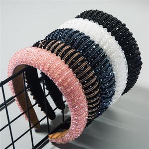 Plein cristal Bandeaux pour les femmes Lady Luxe Brillant matelassée diamant Bandeau cheveux Hoop Fashion Accessoires cheveux. .