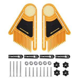 2adet Ters Kazıma Makinesi Tüy Kurulları Parçaları Çok amaçlı Gravür Makinası Çift Featherboards Gönye Ölçer Slot ile