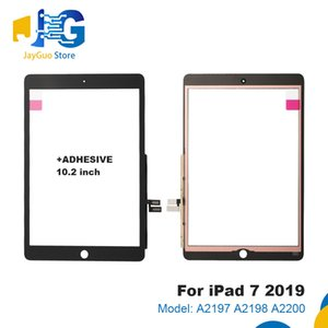 For iPad 7 7th Gen 2019 Version A2197 A2200 A2198 Touch Screen Digitizer Front Outer Panel Glass 10.2 inch with adhesive