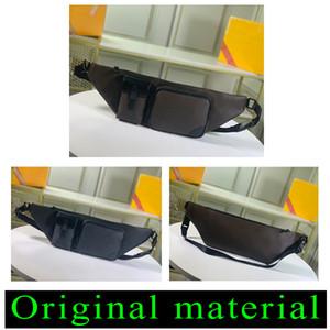 Clásico del estilo de hombres y mujeres cintura empaqueta el bolso de cuero genuino de las mujeres impresa Waistpacks de diseño para los hombres 45337