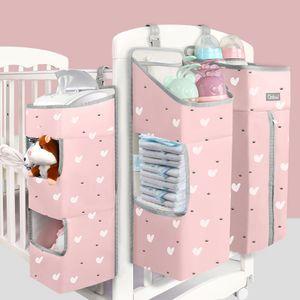 Orzbow Lit bébé Organisateur Sacs Suspendues pour nouveau-né Lit Diaper Sacs de rangement Soins bébé Organisateur Literie bébé Soins infirmiers Sacs CX200822