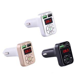 A9 Car Kit freihändiger drahtloser Bluetooth 3.1A Doppel-USB-Ladegerät-Adapter FM Transmitte mmusic Player FM-Transmitter mit Kleinpaket