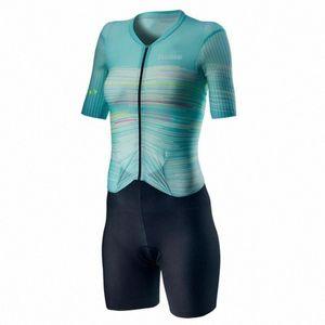 Костюмы женские 2020 задействуя набор ZOOTEKOI Triathlo скафандр Trisuit с коротким рукавом Speedsuit MTB Одежда Джерси наборы Khrv #