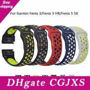 26mm 22mm souple Silcone bande pour Garmin 3/3 h / 5 5x Wristband Quick Fit Band Bracelet Bracelet Fashon Bracelets montres