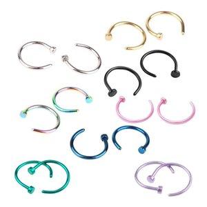Neue modische Nasen-Ring-Körper-Piercing Schmucksachen Arbeiten Sie Edelstahl-Nasen-Band-Ring-Ohrring-Bolzen-Fälschungs-Nasen-Ring Non Piercing Ringe DHB1266