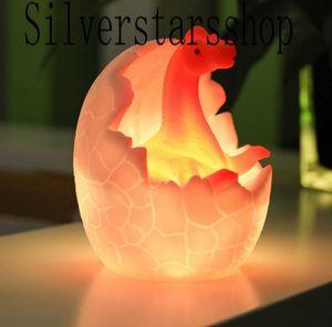3D Dinosaur Egg Night Light Dinosaur Egg Desk Table Light Children Kids Baby Gift Toy's Light