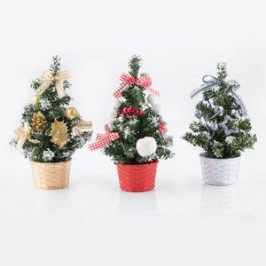 25cm Small Christmas Table Top Desk Artificial Mini Xmas Tree Decoration Office Mini Christmas Trees