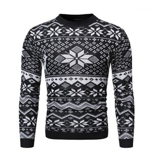 Designer Maglioni casuali dimagriscono Mens Maglioni Moda Pullover Christmas Snow Stampa Maschi Abbigliamento Uomo giorno di Natale