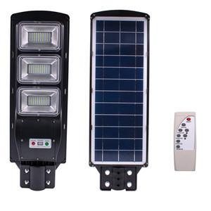 Sensore solare esterna della luce 90W 180 LED con regolazione della luminosità e del radar del sensore nero per la parete esterna o su palo in Plaza, Parco, Giardino