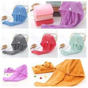 Cabelo seco Caps microfibra Quick Dry Shower Caps Magia cabelo seco absorvente toalha de secagem Turban Hat Spa de banho Caps T2I51318