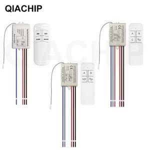 QIACHIP Dijital Kablosuz Duvar Uzaktan / KAPAMA 220V Lamba Işık AÇIK Alıcı Verici 3 Liman kablosuz uzaktan kumanda anahtarı geçiş