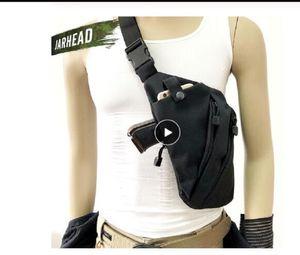 Multifunzionale nascosto Tactical bagagli degli uomini di sacchetto di nylon Left Right Shoulder Bag antifurto sacchetto della cassa Borse Caccia