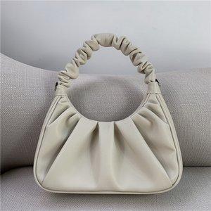 Cloud Trend Underarm Real Leather New Coin Purse Mini Fold Women Messenger Gilrs Small Tote Portable Bag Daily Handbag Bag Pcepc