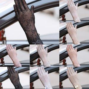 Ice Silk soleil preuve de couverture mince bras de conduite des femmes manches épreuve UV roulement à l'extérieur écran tactile dentelle dentelle antidérapante
