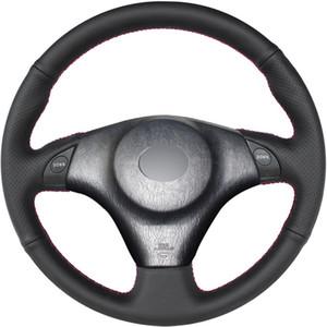 Черный Поддельный кожаный руль DIY автомобиля крышка колеса для Toyota RAV4 Celica 1998-2005 MR2 2000-2004 Lexus IS200 IS300 1999-2005 автомобильные аксессуары