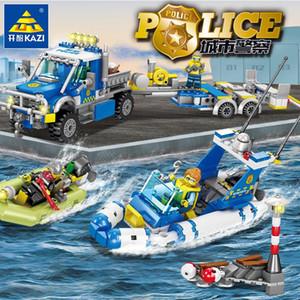 Robot City Police Aéromodélisme voitures blocs de construction Set Créateur Assemblée Figures Bricks éducation Truck bricolage Jouets pour enfants 07