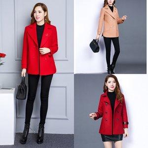 Корейский стиль новой весны женщин весь-матч Mom Put MOM PUT мать пальто осень большого размер пальто бутики 2020 маминой одежды