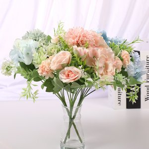 1 pieces Wedding Christmas decorations for home Artificial bouquet Flowers arrangement Pretty New Year Candy box Holding flowers