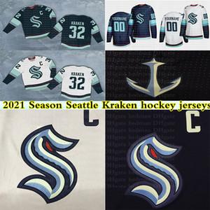 2021 Estación Seattle Kraken jerseys 32th Nuevo Equipo 32 KRAKEN KRAKEN 21 22 Jack Flaherty encargo cualquier nombre cualquier número de Jersey del hockey