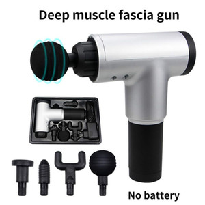 Stock High Quality Muscle Massage Gun Deep Massage Exercising Body Relaxation Fascial Gun Pain Relief Slimming Shaping 2020 Hotselling