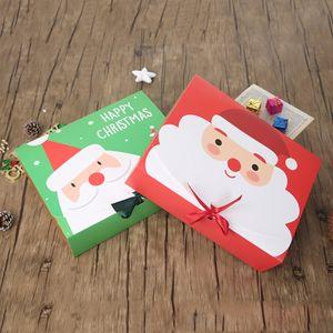 Noël papier boîte-cadeau Cartoon Père Noël Emballage cadeau Boîtes fête de Noël boîte de faveur Sac Kid Bonbonnière Noël fournitures EEA684-8 Party
