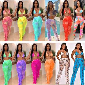 الدعاوى النساء الاستحمام مثير الرقمية مطبوعة ملابس السباحة شبكة حار بيع الملابس النسائية 2 قطعة مجموعة بما في ذلك الملابس شحن مجاني Y5117
