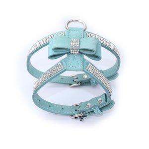 Vest pour animaux de compagnie Harnais de chien Animaux d'animaux de compagnie Diamonds réglables Diamants d'arc strass Pet Chat Collier Harnais pour petits chiens moyens Produit