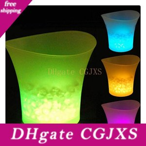 5l Glowing Led Ice Bucket 7color Champagne Wine Drinks Beer Ice Cooler For Restaurant Bars Nightclubs Ktv Pub Party