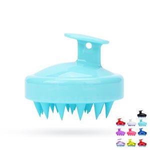 Escova Massagem lavagem do cabelo do couro cabeludo Scrub Air Cushion Silicone Shampoo Combs Limpeza Banho Acessórios Mulheres Bath OWA757