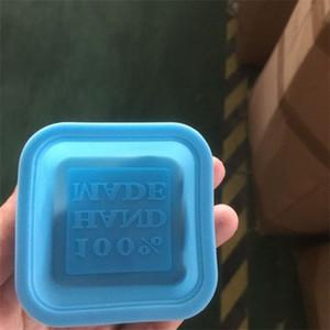 Fabricação de moldes Fondant Bolinhos do cozimento Ferramentas 100% Soap Silicone Handmade Moldes Diy Praça Mold Candle Cake 0 65xg C2