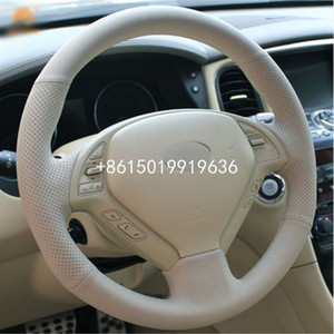 New DIY Sewing-on Leather Steering Wheel Cover Exact Fit For Infiniti G25 G35 G37 QX50 EX25 EX35 EX37 2008-2013