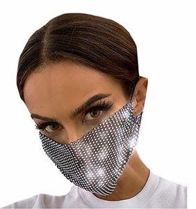 Parlak Rhinestone Mesh Maske Siyah Kristal Masquerade Partisi Gece Kulübü Maske Venedik Karnaval Takı Bayanlar ve Kızlar için Uygun