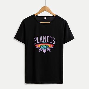 2020 Новое прибытие женские DIY футболки Женщины моды Crew шеи рубашки дышащий вскользь Женщины Топы Tee Настраиваемый Плюс Размер M-4XL A665