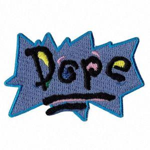 Casa POP di Green WOW ricamato il ferro-sulla toppa ragazzo carino Camicie Applique Abbigliamento Accessori Badge Cartoon Stitch Patch di trasporto vscy #