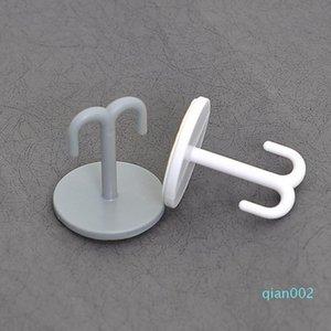 1pc libero Drilling gancio con autoadesivi adesivi Porta Nuova Coppa Forte Kitchen Hang ganci gancio Sticky verticale di aspirazione cuscinetto M9N4