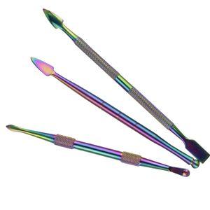 мода 5 стиля инструмент Радуги цвета Dabber инструменты 106mm-127mm металла мазок баночка курения для воска сухой травы испаритель пера титан ногтей вода бом