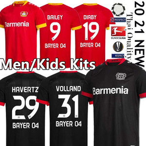 2019 2020 04 Bayer Leverkusen Calcio 29 Kai Havertz Jersey 13 Lucas Alario 8 Lars Bender 19 Moussa Diaby Bellarabi Football Shirt