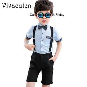 Papyon Biçimsel Okul Performans Suits Doğum Elbise Önlüğü pantolon Giyim F076 ile Marka Çiçek Boys Yaz Düğün Genel Suits