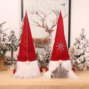 Del árbol de navidad sueca Gnome Cap Decoración sin rostro viejo árbol de Navidad fuera de la Florida para la celebración de días Año Nuevo