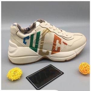 shoes Imprimer Tasarım Chaussures En Qualité Blanc Noir Femmes Hommes En Cuir Véritable Tasarımcı Sneakers Marque modu CHAUSSURES Casual Taille de