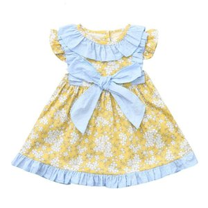 Clearance New Summer Toddler Baby Girls Kids Sleeveless Bow Floral Print Dress Clothes 0116