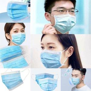 Paketi Gemi Olmayan Yüz 50 Dokuma 1 Adet 3 Katman earloop Karbon Tozu Fa Kn Mavi 95 Seviye maskeleri Mascherine Maske Aktif
